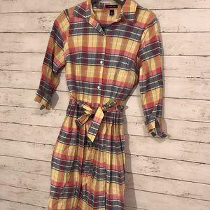 Lands End Plaid Dress - Size 8